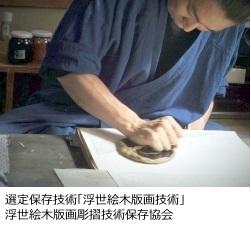 浮世絵木版画彫摺技術保存協会イメージ