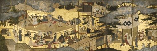 重要文化財 阿国歌舞伎図屏風(京都国立博物館蔵)
