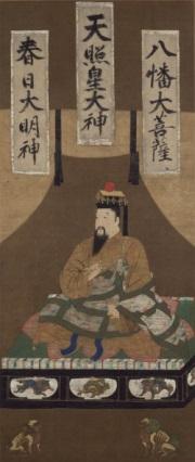 後醍醐天皇御像/画像は清浄光寺(遊行寺)<br>※会場では「後醍醐天皇御像複製品」(鳥取県立博物館)を展示します