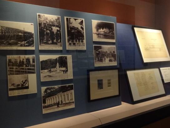 大社教育水族館(初代)と、大社水族館(二代)や、謎の「大社海水浴場本館・浴場」正面図・側面図など